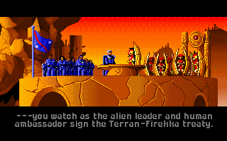 Wing Commander: The Secret Missions 2 - Crusade DOS The Firekkans sign a peace treaty - Confederation insure support in the attack case