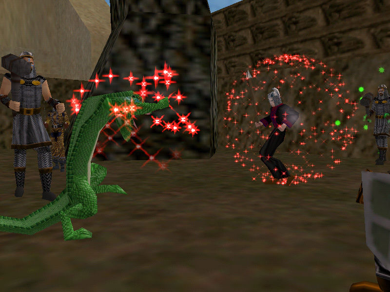 EverQuest Windows Fighting a Dragon with Magic