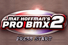 Mat Hoffman's Pro BMX 2 Game Boy Advance Title Screen