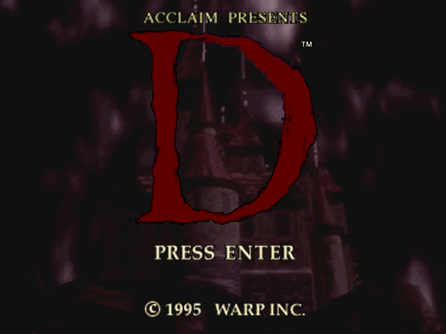 D DOS Title screen.