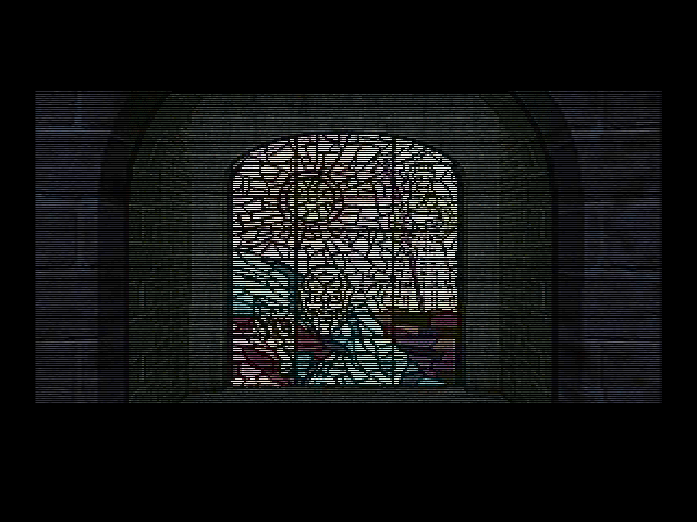 D DOS Stained-glass window.