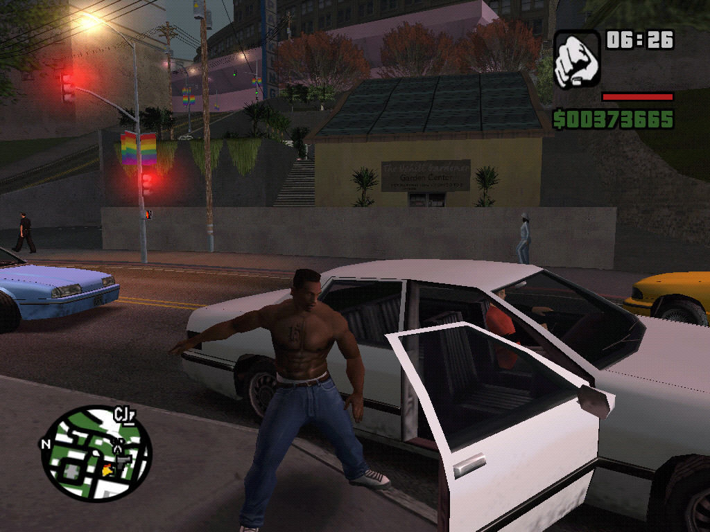 "Grand Theft Auto: San Andreas Windows ""Can I borrow this car, please?"""