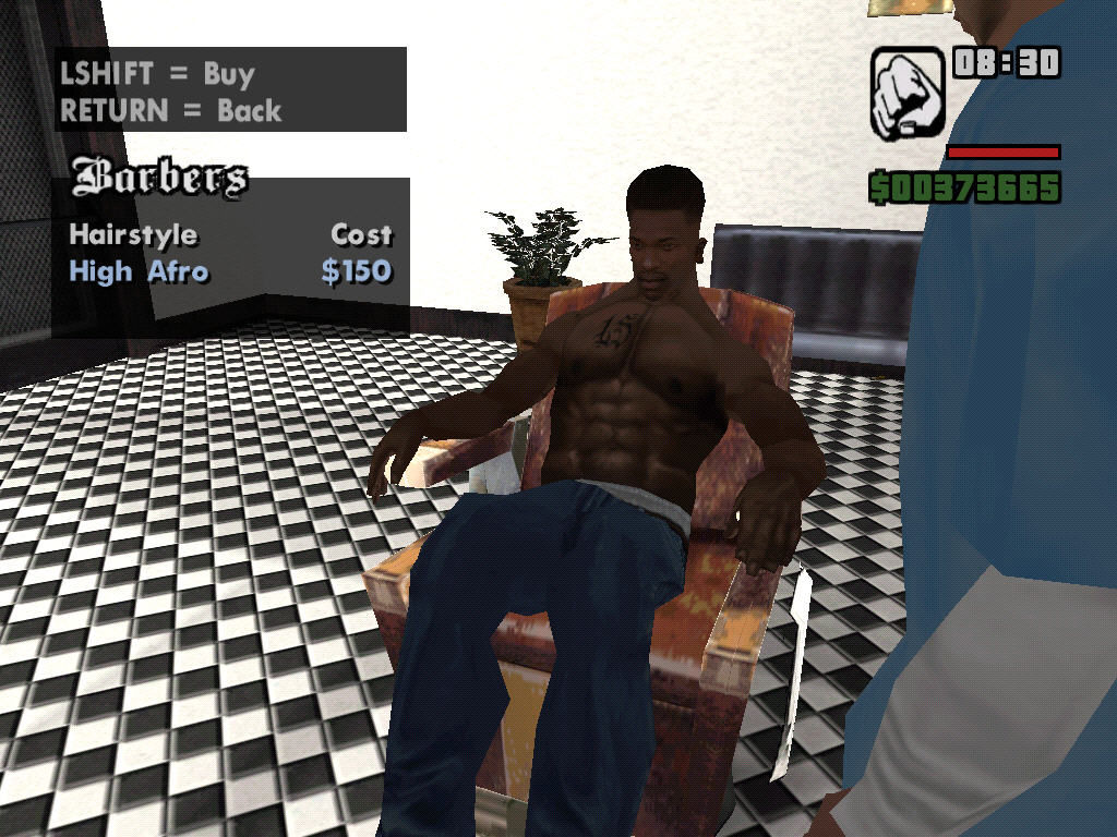 Grand Theft Auto: San Andreas Windows Barber shop.