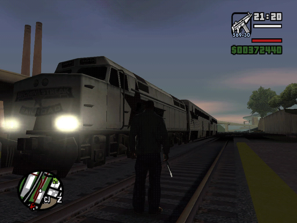 Grand Theft Auto: San Andreas Windows In San Andreas you could even steal a train.