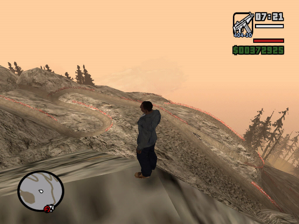 Grand Theft Auto: San Andreas Windows Mount Chillad - Top of the world.