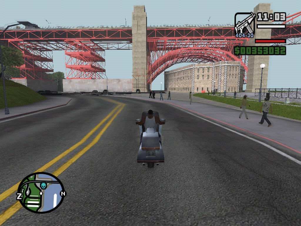 Grand Theft Auto: San Andreas Windows Streets of San Fierro.