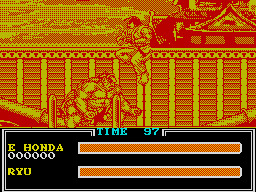 Street Fighter II ZX Spectrum Ryu's death from above strategy usually works