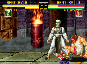 Art of Fighting Neo Geo Lee VS. Micky