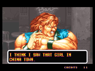 Art of Fighting Neo Geo Robert VS. Jack Post-Fight Victory Screen