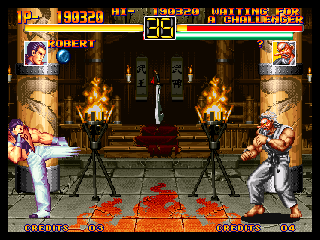 Art of Fighting Neo Geo Robert VS. Mr. Karate 2