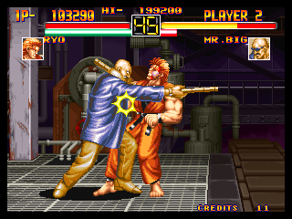Art of Fighting Neo Geo Ryo VS. Mr. Big 2
