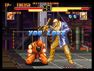 Art of Fighting Neo Geo Ryo VS. Mr. Big Post-Fight
