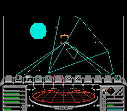 Elite NES Landing a direct hit on a Mamba.