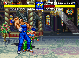 Fatal Fury 3: Road to the Final Victory Neo Geo Franco Bash will never be very lucky with the ladies if he treats them the way he does... ;)