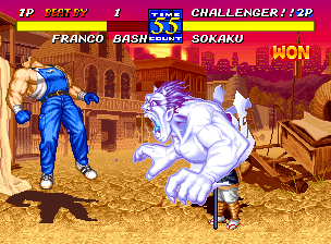 Fatal Fury 3: Road to the Final Victory Neo Geo Sokaku has the ability to summon demons to assist him. This gives him a great advantage when dealing with opponents!