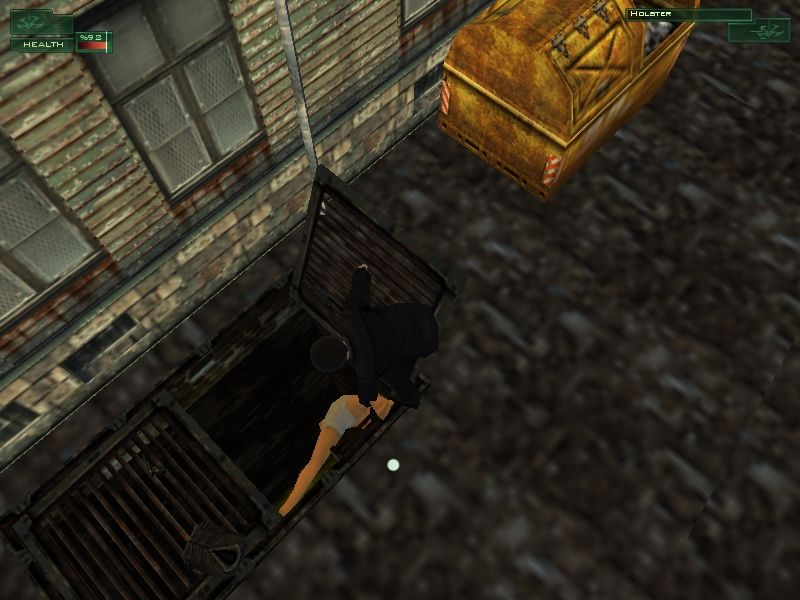 Hitman: Codename 47 Windows Since you won't be needing these... Silently taking down an opponent often has the added bonus of allowing you to don their outfits. Just remember to hide their body somewhere, like this sewer.