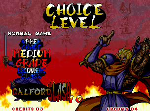 Samurai Shodown III: Blades of Blood Neo Geo Each level has its advantages and disadvantages, then select the most balanced for you!