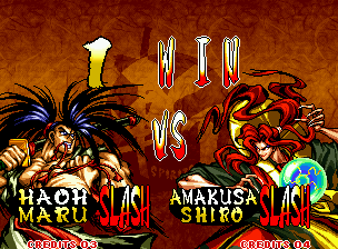 Samurai Shodown III: Blades of Blood Neo Geo VS screen.