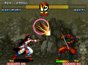 Samurai Shodown III: Blades of Blood Neo Geo Mamahaha gives a little help to Nakoruru... ;-)