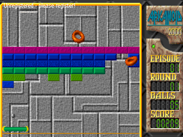 Arkanoid 2000 Windows Level 1