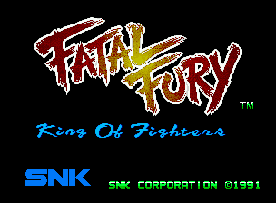 Fatal Fury Neo Geo CD Title Screen