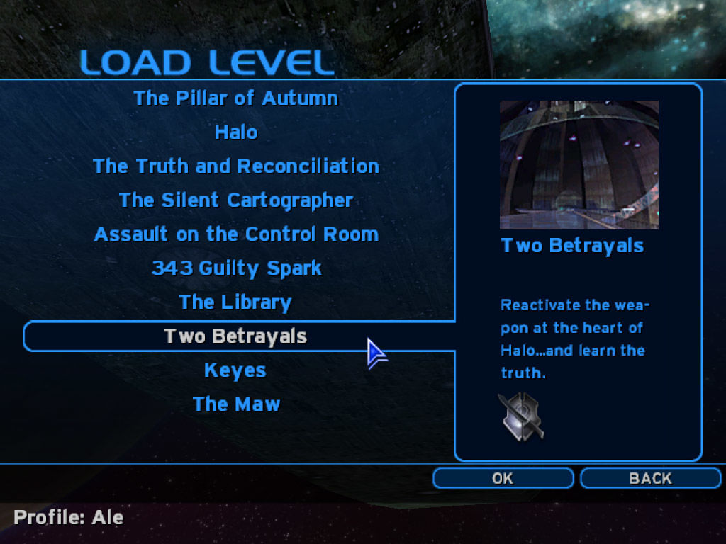Halo: Combat Evolved Windows The campaign menu