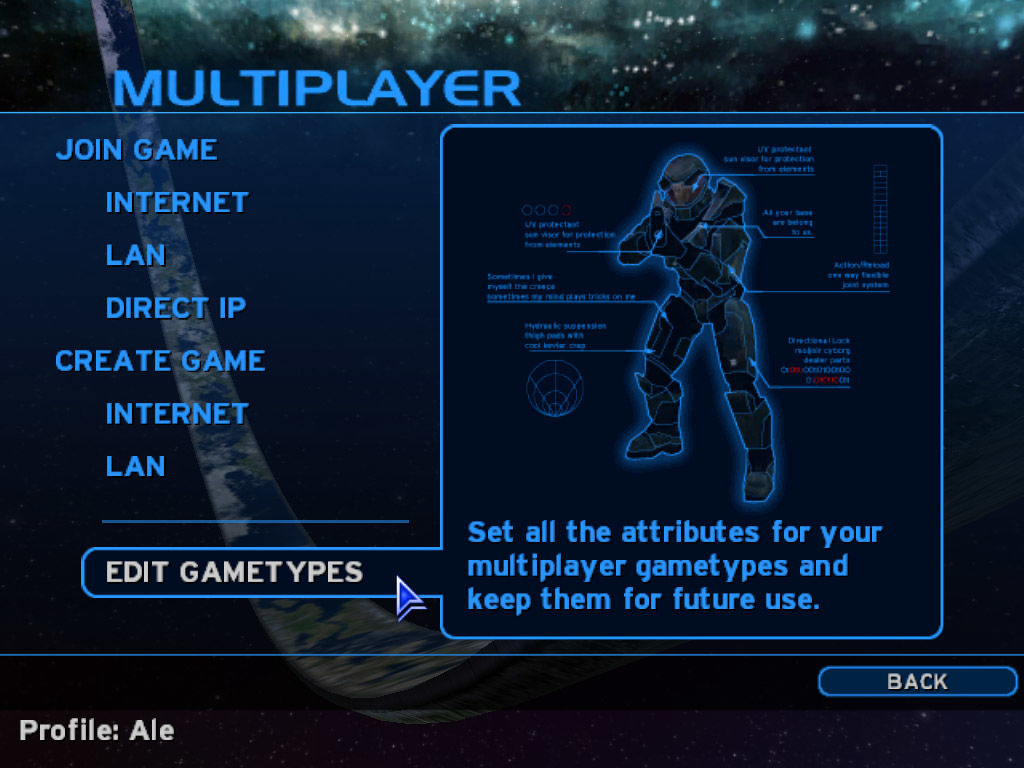 Halo: Combat Evolved Windows Multiplayer options