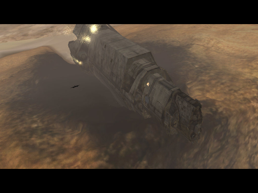 Halo: Combat Evolved Windows The Pillar of Autumn is in pretty bad shape after the crash...