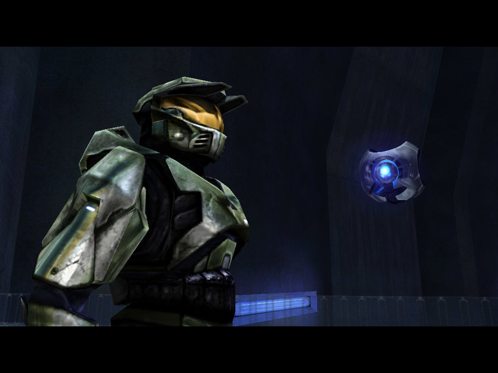 Halo: Combat Evolved Windows The Master Chief talks some trash with 343 Guilty Spark, the keeper of Halo