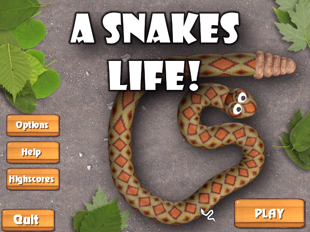A Snake's Life Windows Main menu