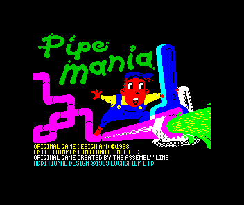 Pipe Dream ZX Spectrum Title screen
