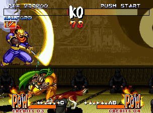 Samurai Shodown III: Blades of Blood Neo Geo Now Kuroko is a challenger, and he will morph into you to fight on (notice that his stage has a new design) !
