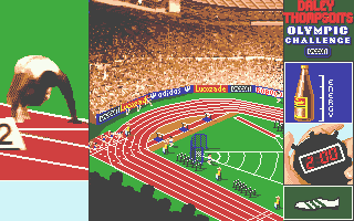Daley Thompson's Olympic Challenge Atari ST On the starting blocks for the 100m
