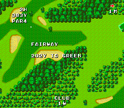 Naxat Open TurboGrafx-16 Quite a narrow fairway here