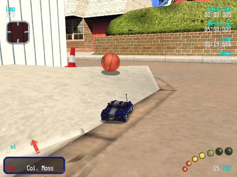 Re-Volt Windows Loose ball! There aren't many racing games where basketballs are dangerous obstacles.