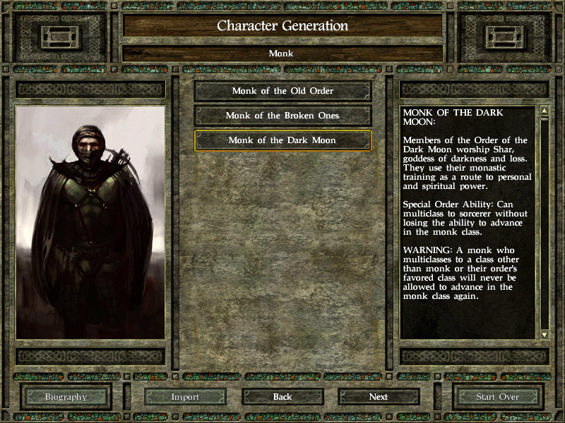 Icewind Dale II Windows New classes and sub-classes to choose from
