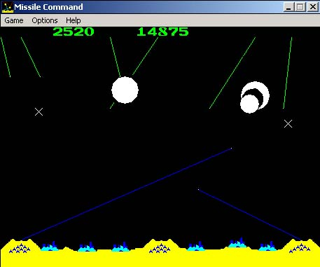 Microsoft Arcade Windows 3.x Missile Command