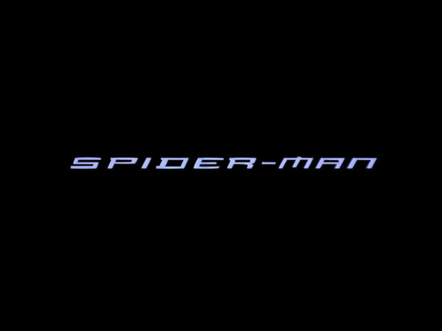 Spider-Man: The Movie Windows Title screen.