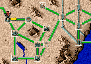 Last Battle Genesis On the map you can often choose different routes