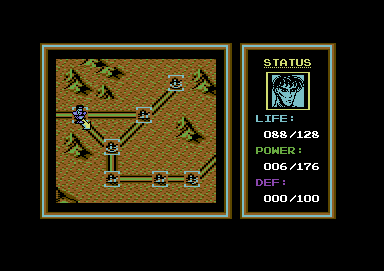 Last Battle Commodore 64 On the map, choosing which way to go