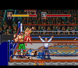 Saturday Night Slam Masters SNES Winning pose