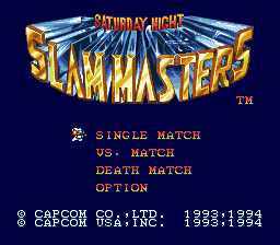 Saturday Night Slam Masters Genesis Title screen
