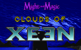 Might and Magic: World of Xeen DOS Clouds of Xeen Title