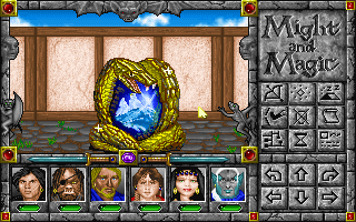 Might and Magic: World of Xeen DOS These gemstones allow you to warp to each part of Xeen