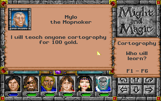 Might and Magic: World of Xeen DOS Purchasing skills and abilities