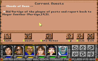 Might and Magic: World of Xeen DOS The brand new questlog