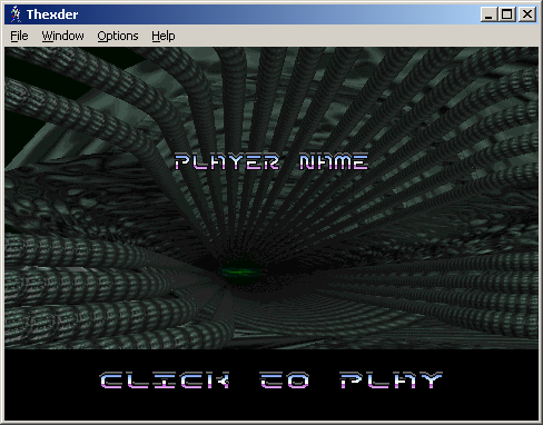 Thexder Windows Player name entry