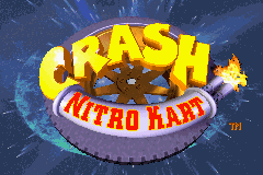 Crash Nitro Kart Game Boy Advance Title screen.