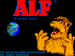 ALF SEGA Master System Title screen