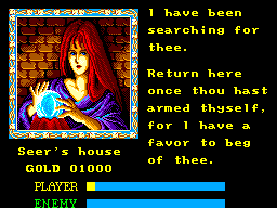 Ys: The Vanished Omens SEGA Master System A favor? For you, baby... anything!!